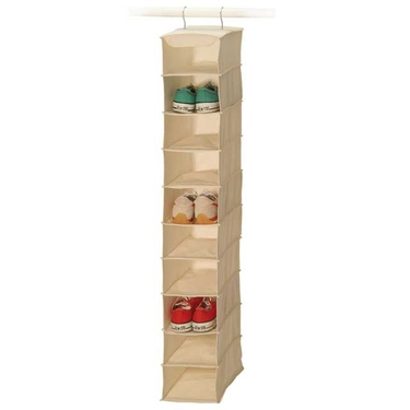 Canvas 10 Shelf Athletic Shoe Organizer by Richards