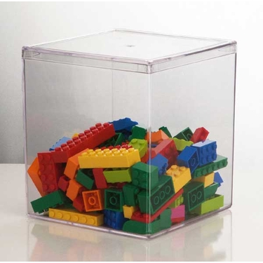 Plastic Storage Containable by U.S.Acrylic - 4.75'' x 4.75'' x 5.25''