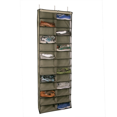 Gearbox Black & Grey 26 Pocket Over the Door Organizer by Richards