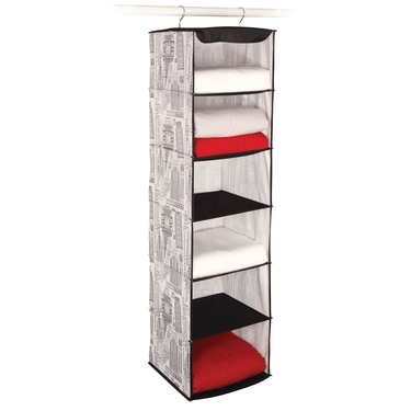 Skyline White & Black 6 Shelf Sweater Organizer by Richards