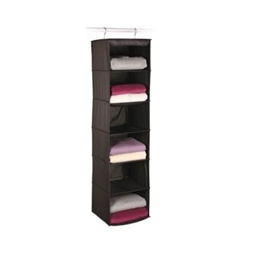 Expressive Storage/Black 6 Shelf Sweater Organizer by Richards