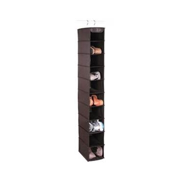 Expressive Storage/Black 10 Shelf Shoe Organizer by Richards