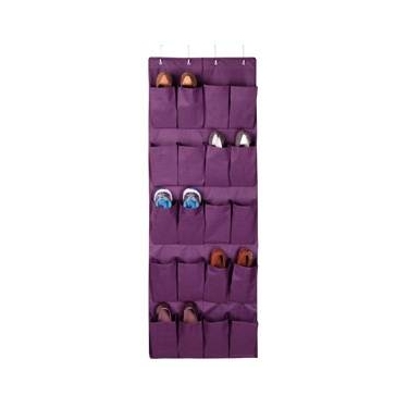 Expressive Storage/Plum 20 Pocket Over the Door Shoe Organizer by Richards