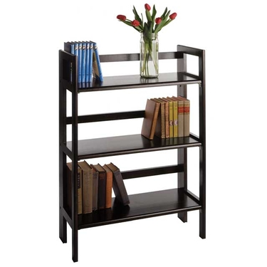 3-Tier Folding and Stackable Shelf in Black Finish by Winsome Wood