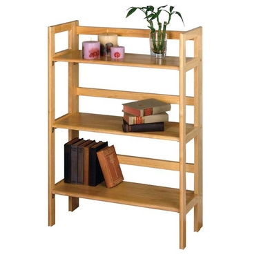 3-Tier Folding and Stackable Shelf in Beech Finish by Winsome Wood