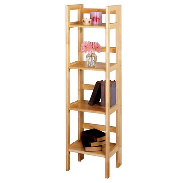 4-Tier Narrow Foldable Shelf in Beech Finish by Winsome Wood
