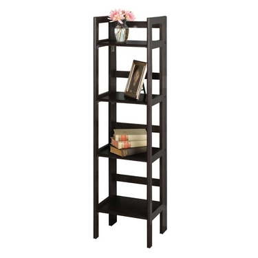 4-Tier Folding Shelf in Black Finish by Winsome Wood