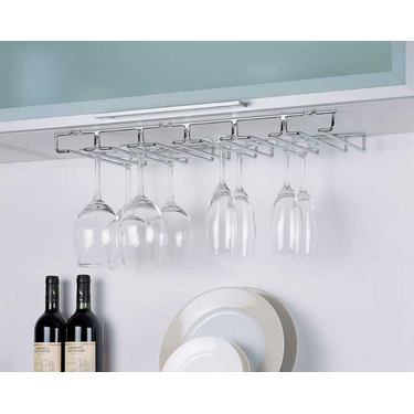 Large Under Cabinet Stemware Holder - Organize It All