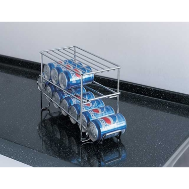 Chrome 12 Soda Can Holder by Organize It All