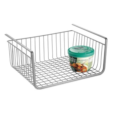York Lyra Under Shelf Basket in Silver by InterDesign