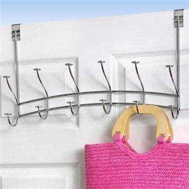 Spectrum Windsor Over the Door 6 Hook Rack - Chrome