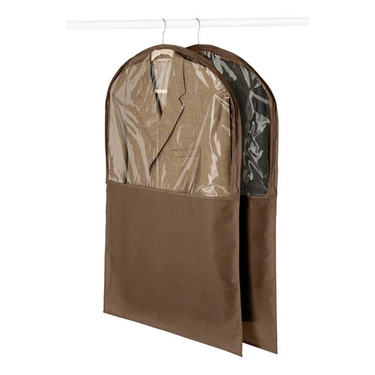 Chocolate 2 Pack Garment Bags - Whitmor