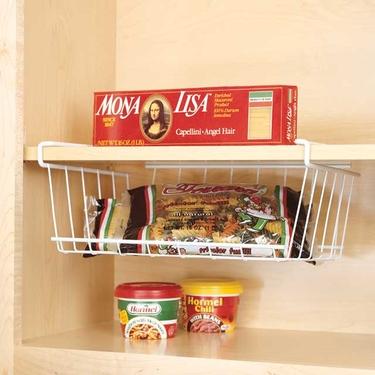 Under shelf basket storage undershelf cabinet wrap rack for Under shelf basket wrap rack