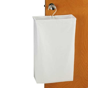 White Canvas Doorknob Laundry Bag by Household Essentials