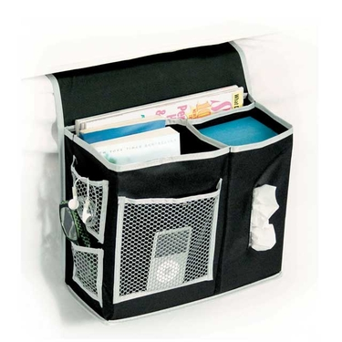 Gearbox Black/Gray Bedside Caddy by Richards
