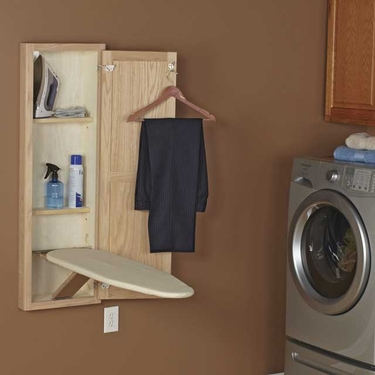 Oak Ironing Board Cabinet
