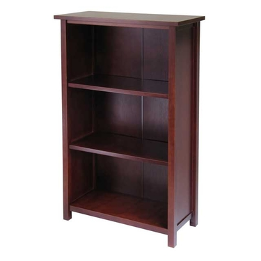 Milan 4-Tier Medium Storage Shelf or Bookcase by Winsome Wood