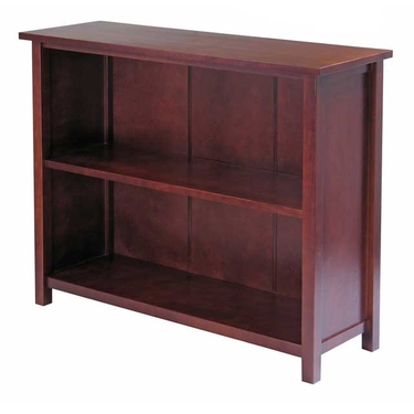 Milan 3-Tier Long Storage Shelf or Bookcase by Winsome Wood