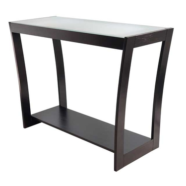Radius Console Hall Table with Frosted Glass Top