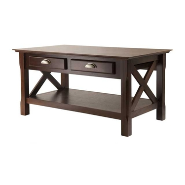Xola Coffee Table with 2 Drawers by Winsome Wood