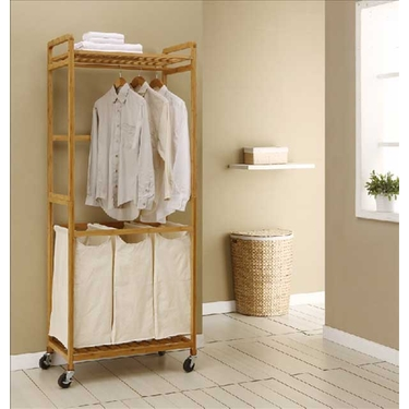 Bamboo Laundry Station by Organize It All