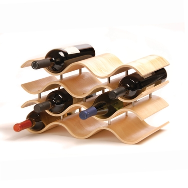 Bali 10-Bottle Natural Wine Rack by Oenophilia