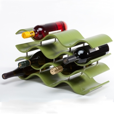 Bali 10-Bottle Avocado Wine Rack by Oenophilia