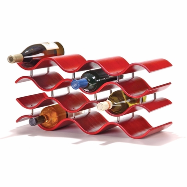 Bali 12-Bottle Crimson Wine Rack by Oenophilia