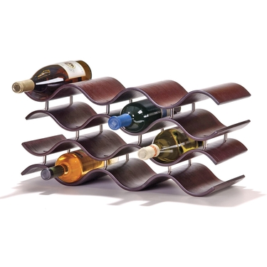 Bali 12-Bottle Ebony Wine Rack by Oenophilia