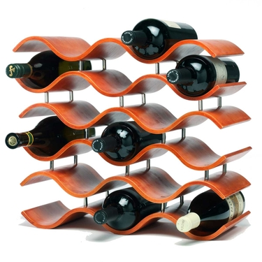 Bali 15-Bottle Spiced Pumpkin Wine Rack by Oenophilia