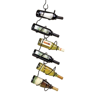 Climbing Tendril 6-Bottle Wine Rack in Black by Oenophilia