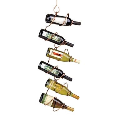 Climbing Tendril 6-Bottle Wine Rack in Copper by Oenophilia