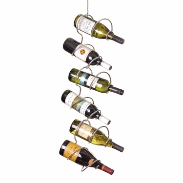Climbing Tendril 6-Bottle Wine Rack in Chrome by Oenophilia