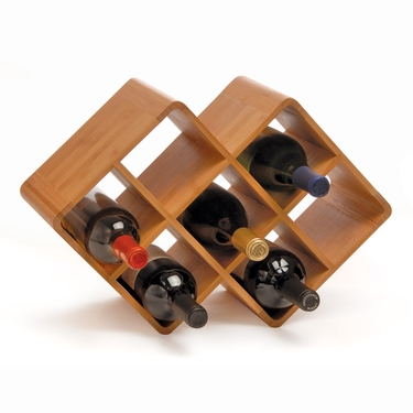 Bamboo 8-Bottle Wine Rack by Oenophilia