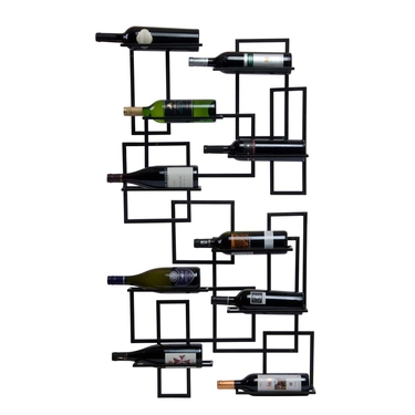Mid-Century 10-Bottle Wine Rack by Oenophilia