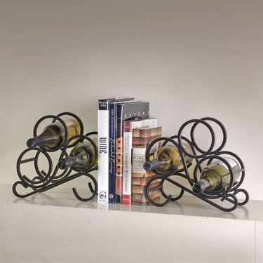 Scroll Bookends 6-Bottle Wine Rack by Oenophilia