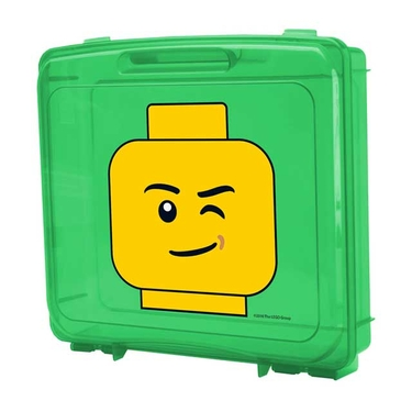 Green Lego Portable Project Case with Base Plate by Iris
