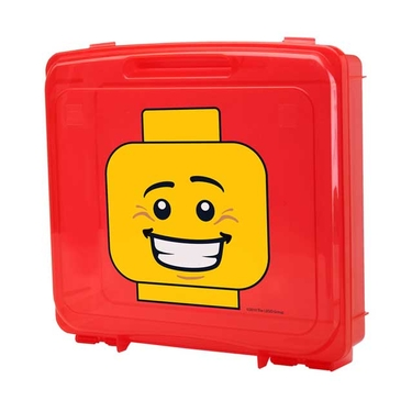 Red Lego Portable Project Case with Base Plate by Iris
