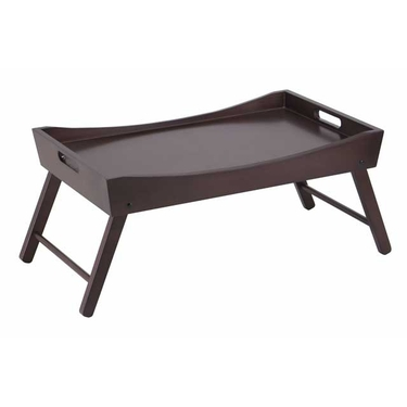Benito Bed Tray with Curved Top and Foldable Legs by Winsome Wood