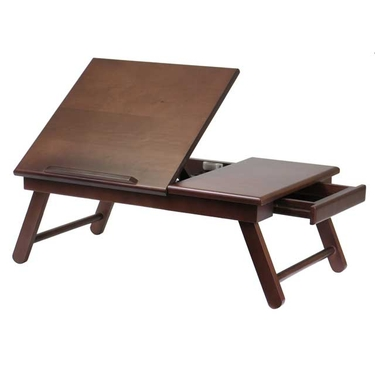 Alden Lap Desk, Flip Top with Drawer and Foldable Legs