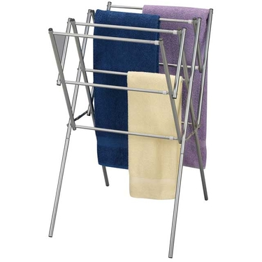 Satin Silver Accordion Drying Rack