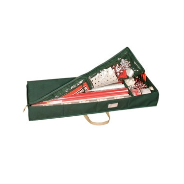 Holiday Green Gift Wrap Organizer with Handles by Richards