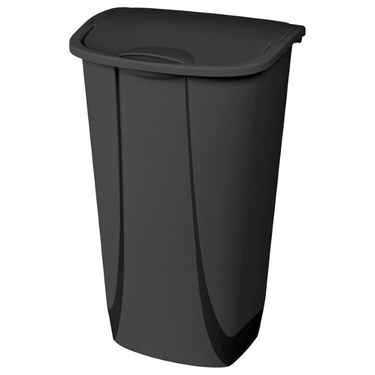 Sterilite 11 Gallon Black Swing-Top Wastebasket