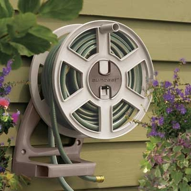 Suncast 100' Sidetracker Wall Mount Hose Reel in Tan