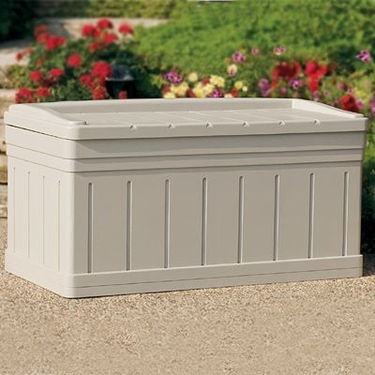 Suncast Premium Deck Box with Seat - 129 Gallon