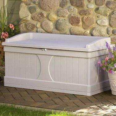 Suncast 99 Gallon Deck Box with Seat