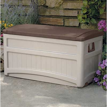 Suncast 73 Gallon Premium Deck Box with Brown Top