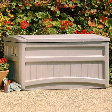 Suncast 73 Gallon Premium Deck Box with Tan Top