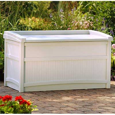 Suncast Deck Box with Seat - 50 Gallon