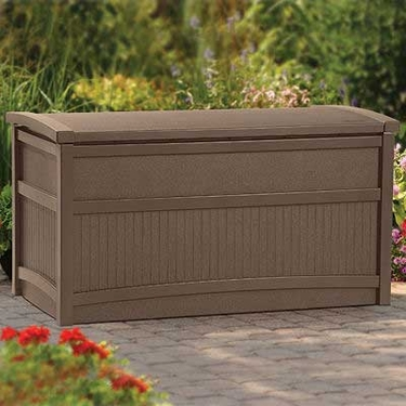 Suncast Deck Box Brown - 50 Gallon